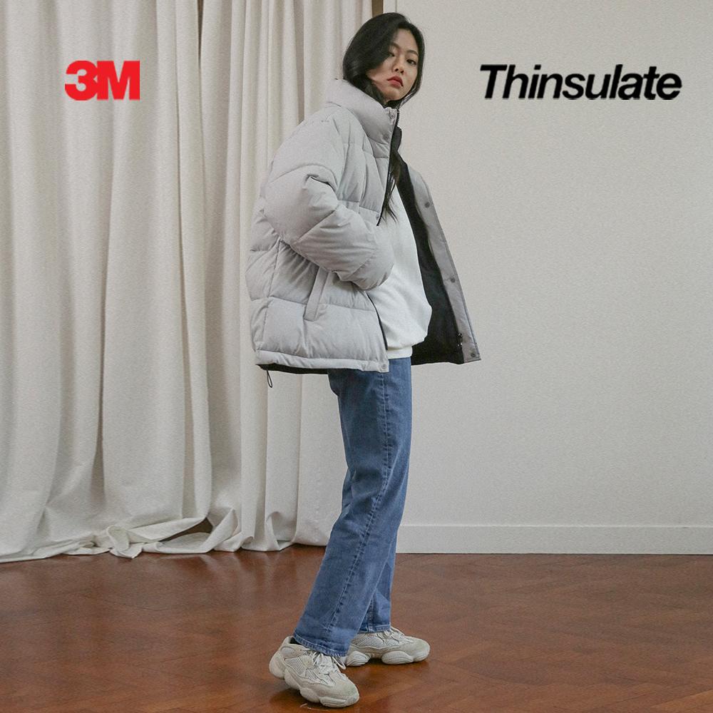 3M 페더리스 리버서블 숏패딩 그레이/블랙