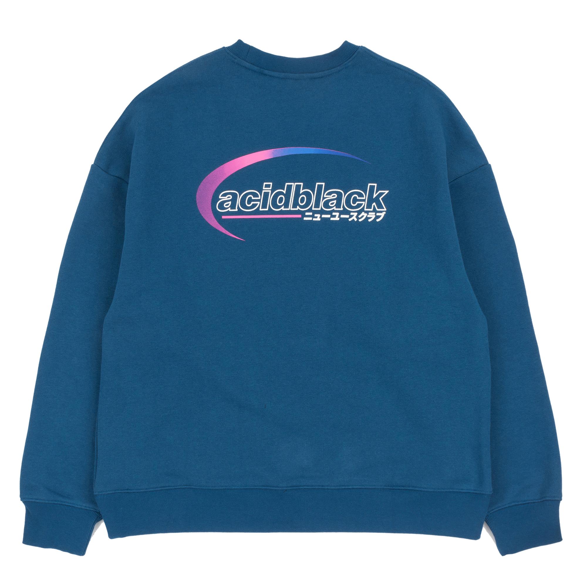 [에시드블랙] AROUND THE ORBIT MTM (NAVY) 기모 맨투맨 크루넥 스웨트셔츠