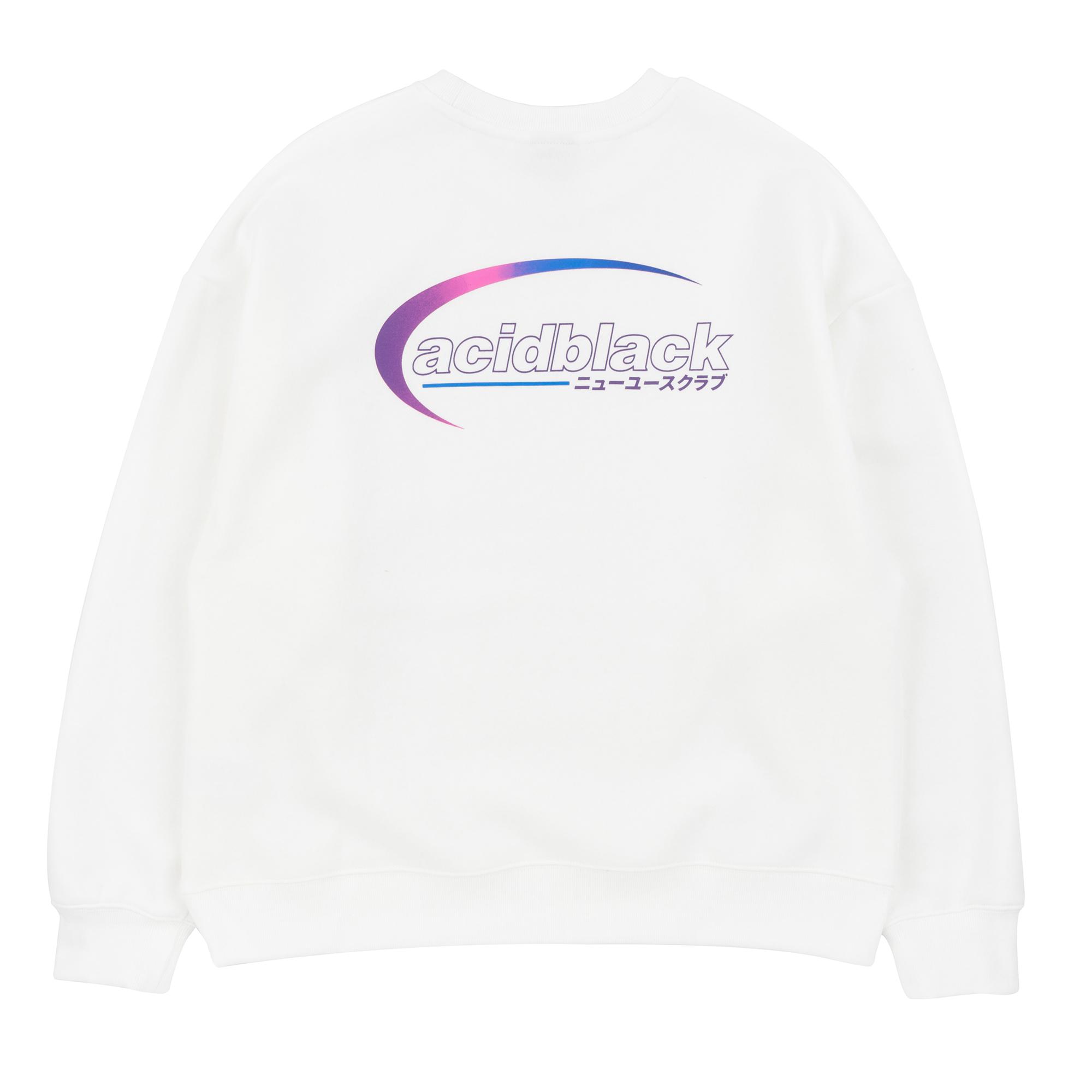 [에시드블랙] AROUND THE ORBIT MTM (IVORY) 기모 맨투맨 크루넥 스웨트셔츠