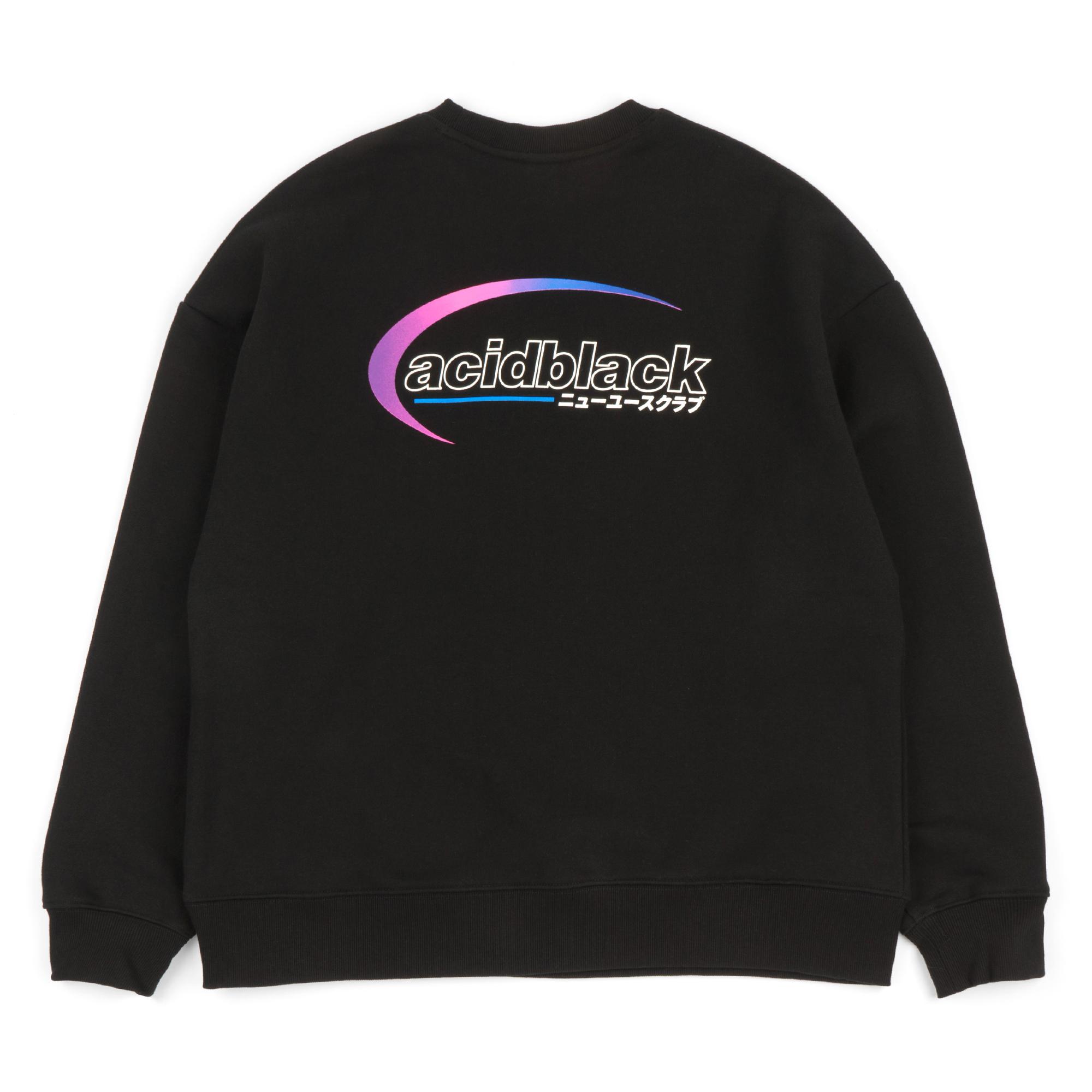 [에시드블랙] AROUND THE ORBIT MTM (BLACK) 기모 맨투맨 크루넥 스웨트셔츠