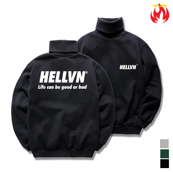 [크루비단독]Life Means Hellvn Polo Neck - H8S-022 - 목폴라