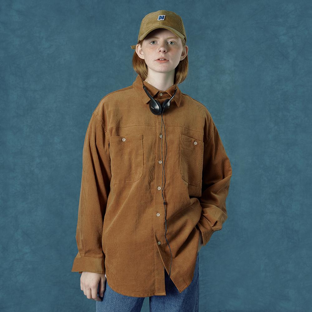 [앤커버] Corduroy shirt-beige
