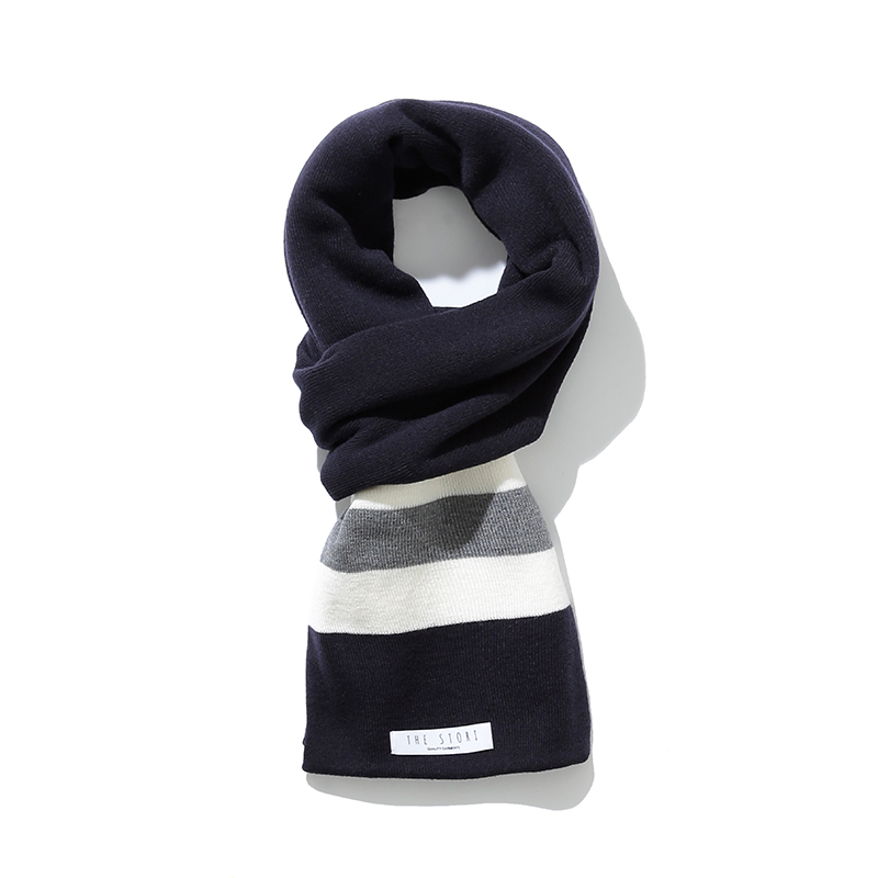 18FW Knit Muffler (Navy)