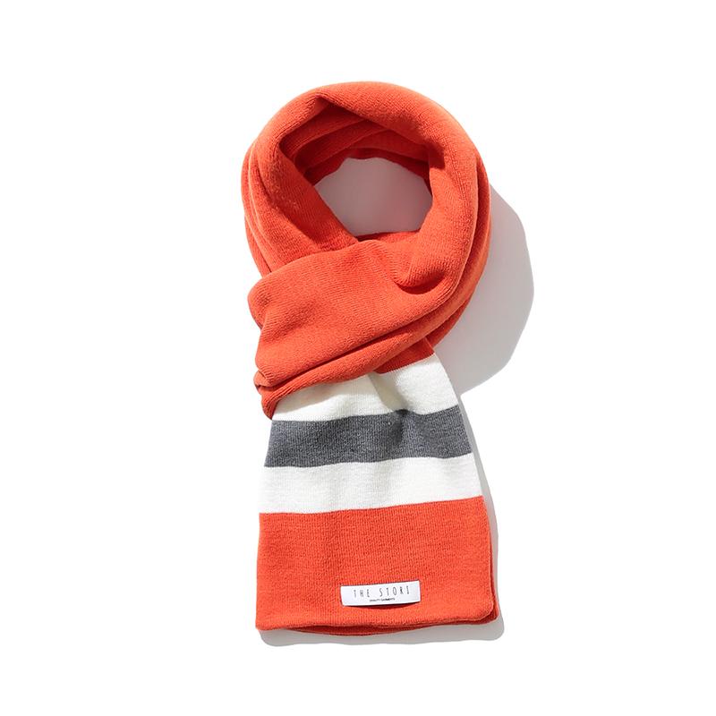 18FW Knit Muffler (Orange)