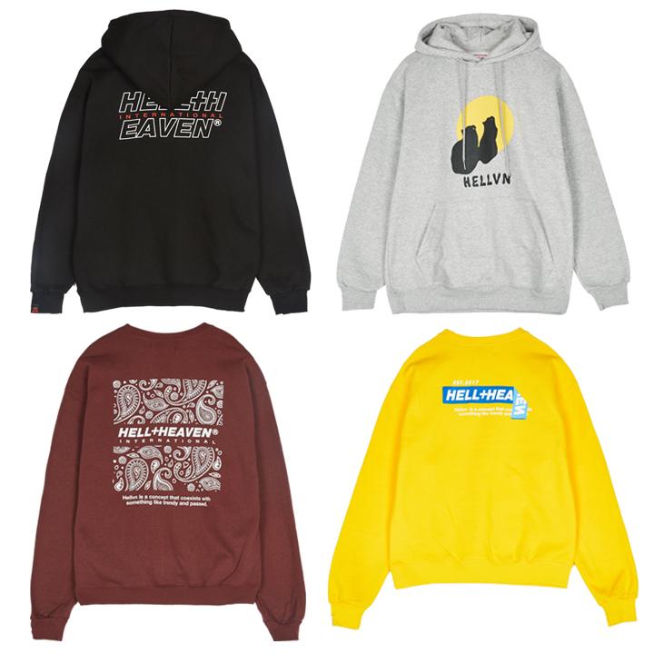 [크루비단독특가][1+1] Set Package Hellvn Sweatshirts - 맨투맨세트