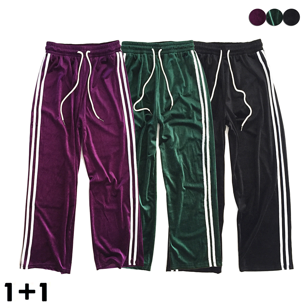 [1+1]VELVET WIDE TRACK PANTS(3COLOR) +VELVET WIDE TRACK PANTS(3COLOR) 여성용