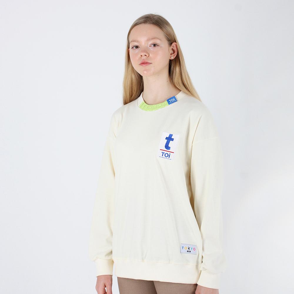 [TOi] TOKYO T로고 스웨트셔츠 아이보리