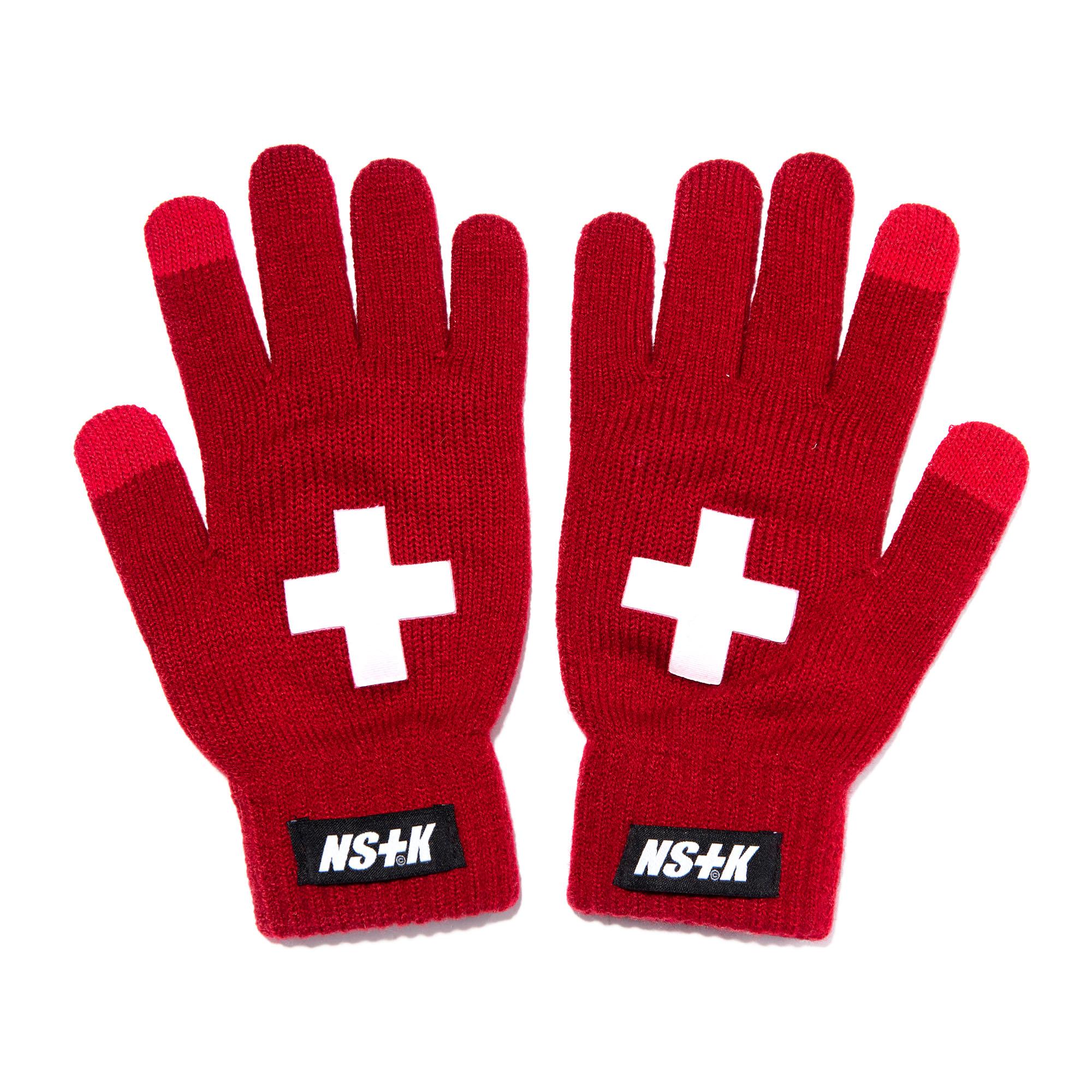 NSTK CROSS GLOVES RED (NK18A101H)