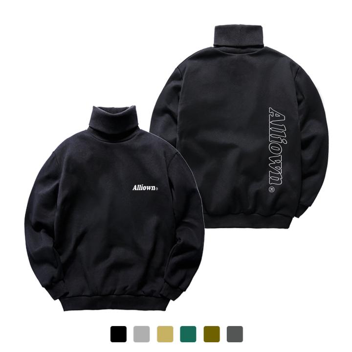 [크루비단독]올라온 - Back Line Logo - 기모 목폴라 - 6Color - A8S-024