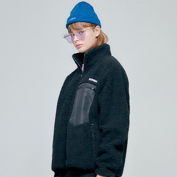 [키르시]FLEECE JACKET HA HAKO06[BLACK]