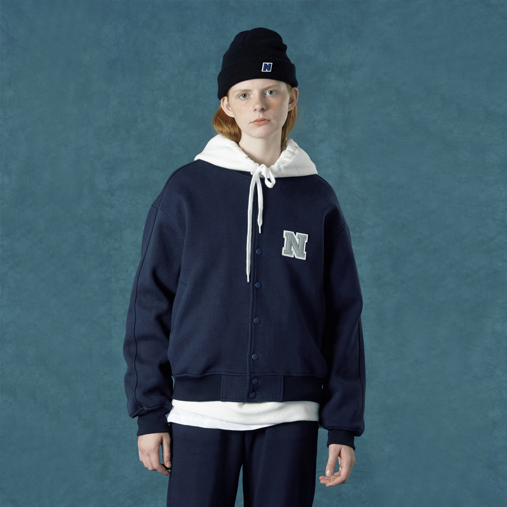[앤커버] Baseball jacket-navy