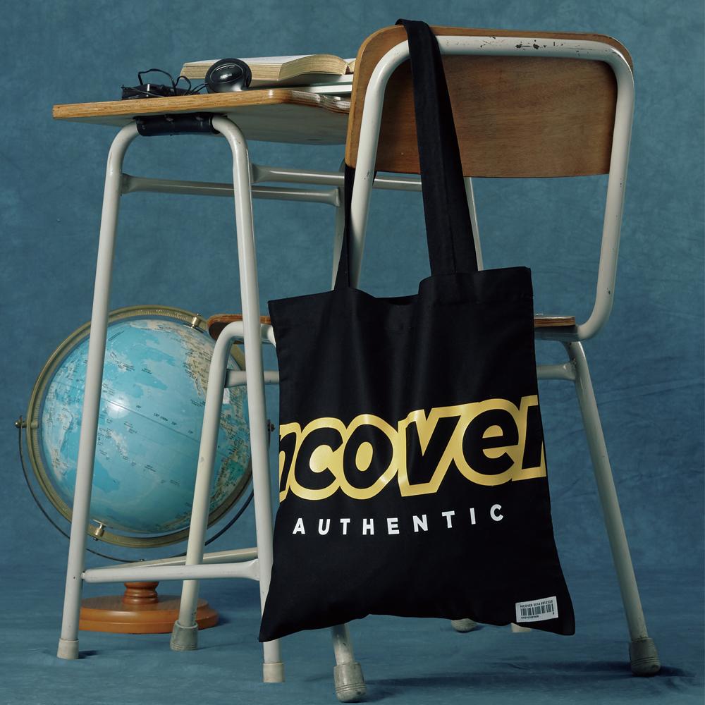 [앤커버] Signature logo eco bag-black