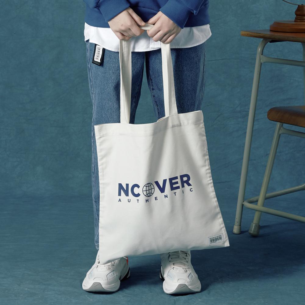 [앤커버] Authentic logo eco bag-ivory