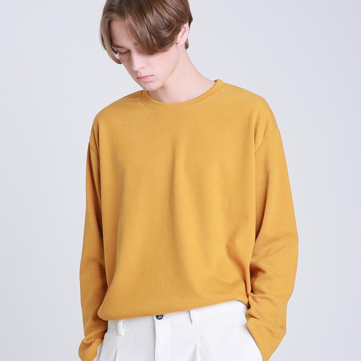 라운드 넥 니트 티셔츠 (3color)