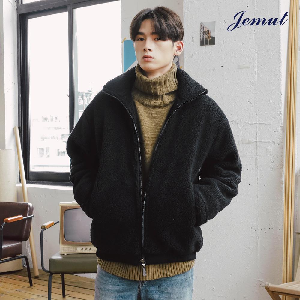 [제멋]  웜스 양털 자켓 3종 블랙 HJJK2166
