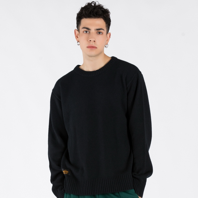 BASIC CREW NECK SWEATER (SAF3SW01) (NAVY)
