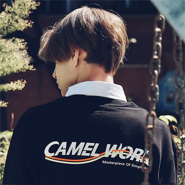 Wave Logo Sweatshirts(Black)
