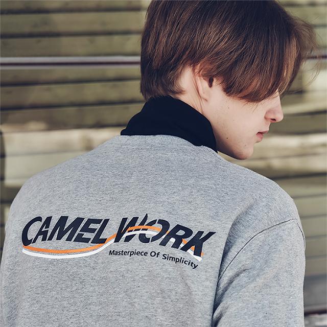 Wave Logo Sweatshirts(Gray)