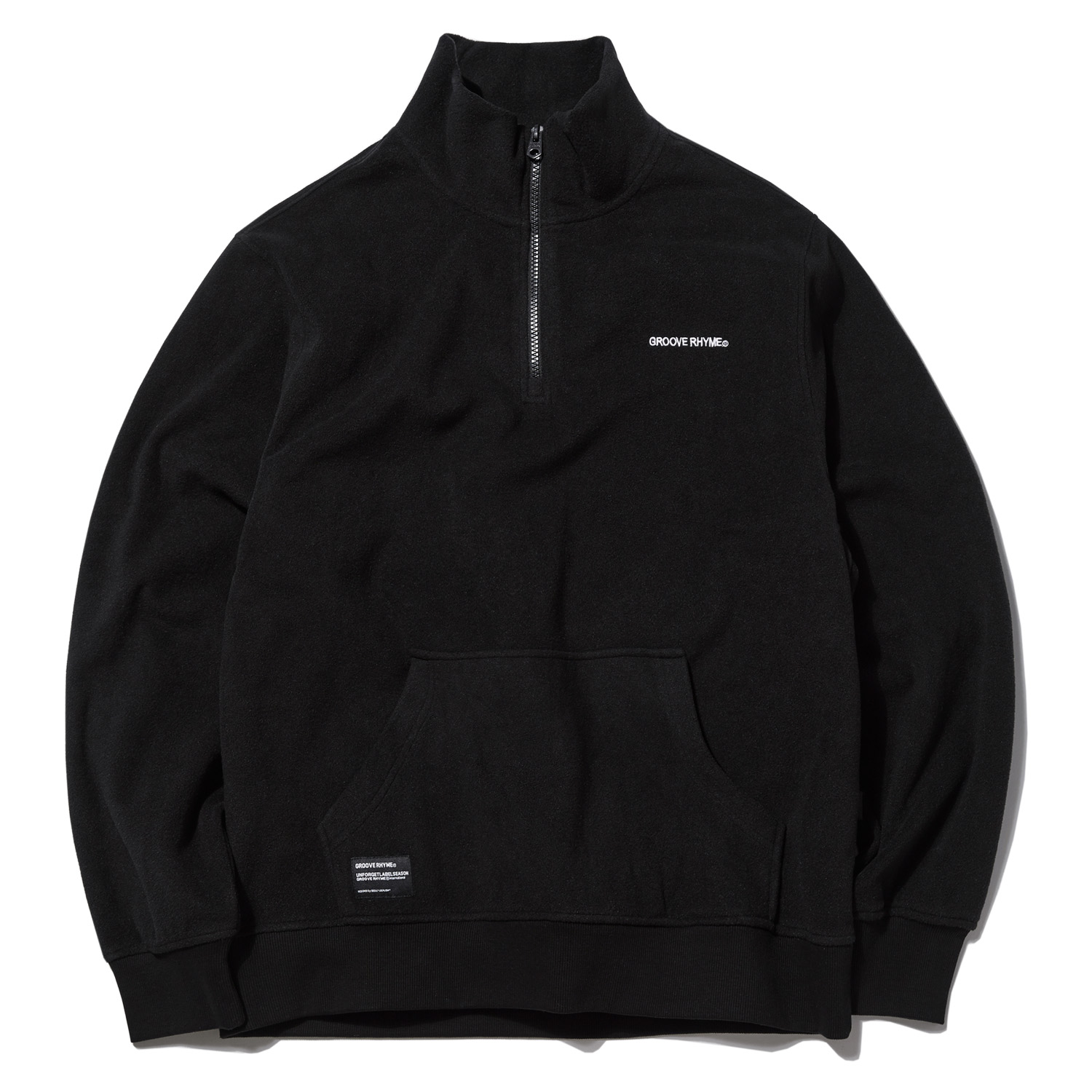 2018 POLAR FLEECE HALF ZIP-UP (BLACK) [GNZ001G43BK]