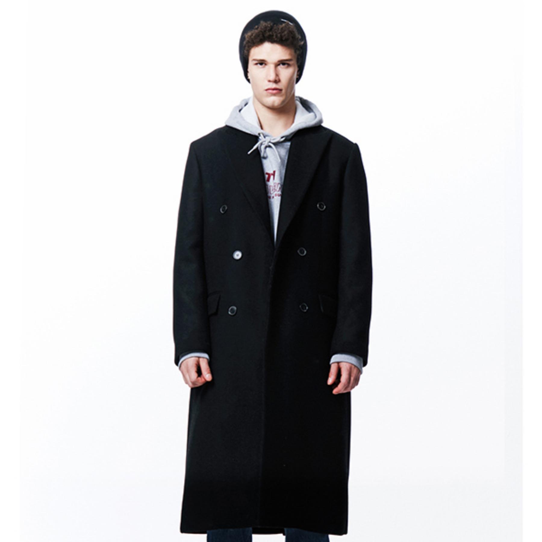 [210]HEAVY WOOL DOUBLE COAT(BLACK)