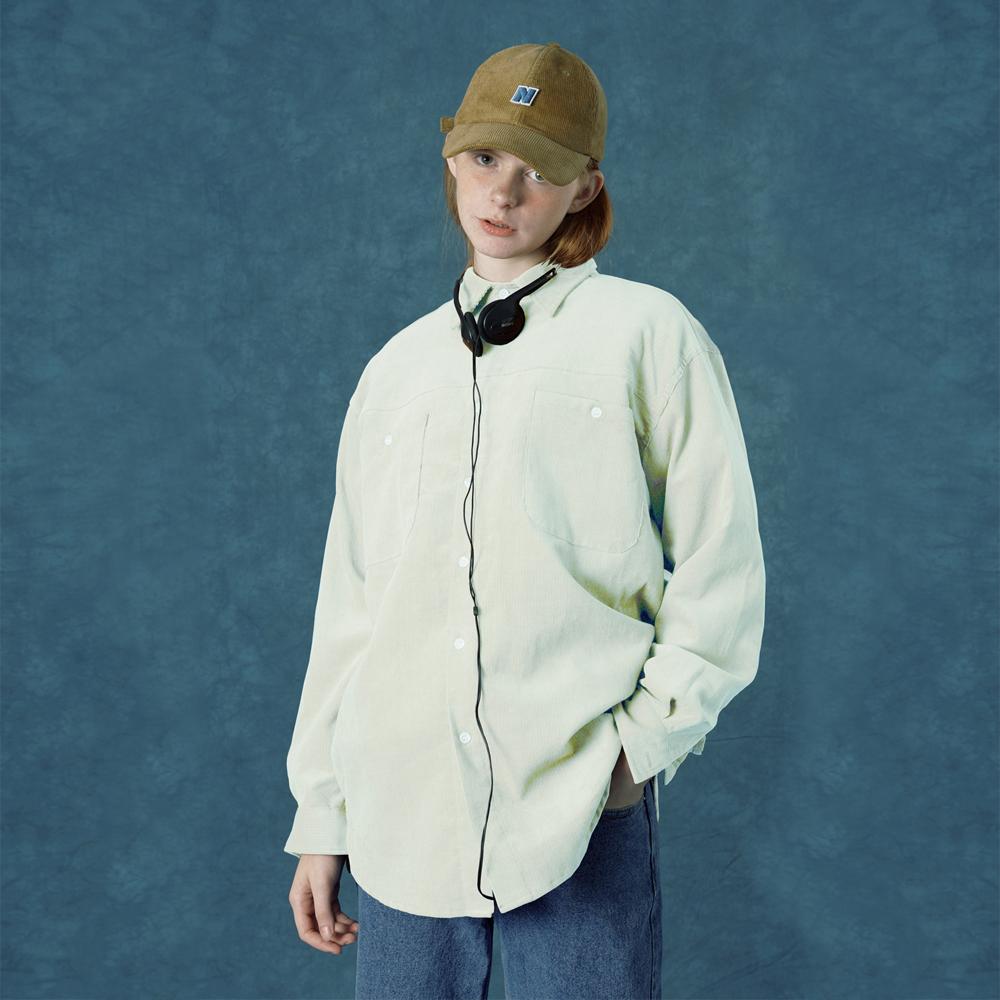[앤커버] Corduroy shirt-ivory