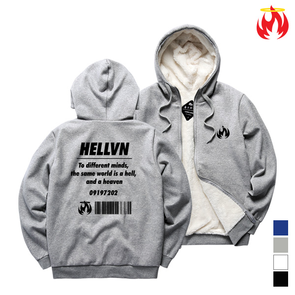 Different Mind Hellvn Sheep Zip-Up - H8S-027 - 양털집업