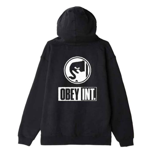 [OBEY] 오베이후드 OBEY INT ICON 111731856 BLACK