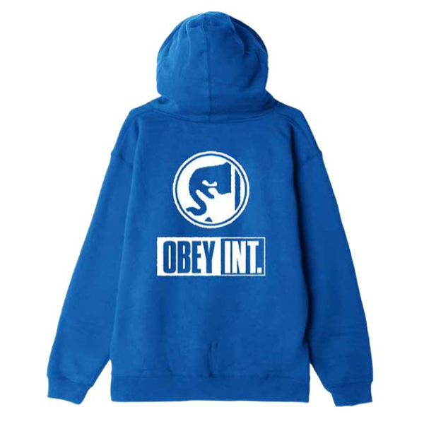 [OBEY] 오베이후드 OBEY INT ICON 111731856 ROYAL BLUE
