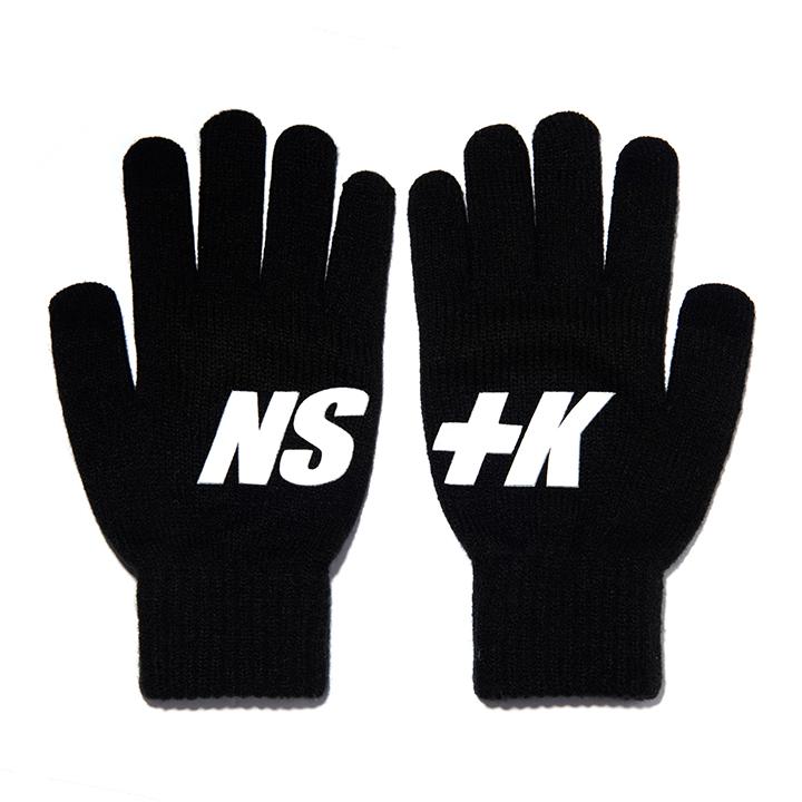 NSTK BASIC LOGO GLOVES BLACK (NK18A102H)