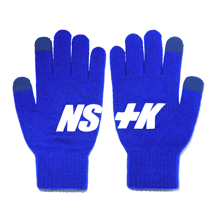 NSTK BASIC LOGO GLOVES BLUE (NK18A102H)