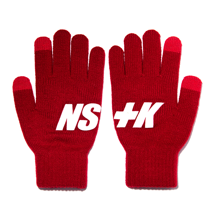NSTK BASIC LOGO GLOVES RED (NK18A102H)