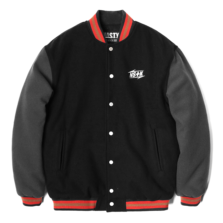 [블프가][단독할인]NSTK NARROW VARSITY JACKET BLACK (NK18A118H)