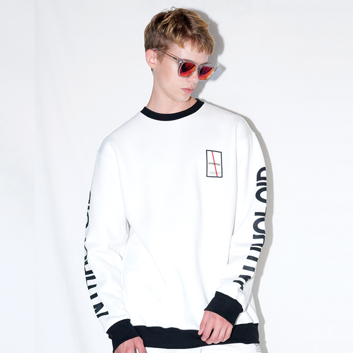 LETTERING SWEAT SHIRT (WHITE)