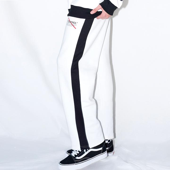 LINE SWEAT PANTS (WHITE)