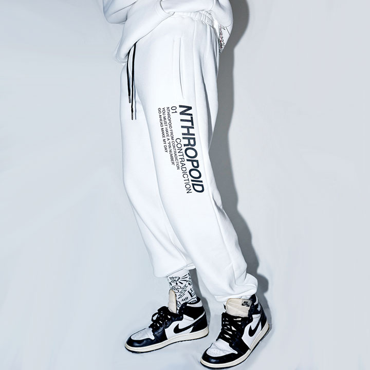 SIDE LETTERING PANTS (WHITE)