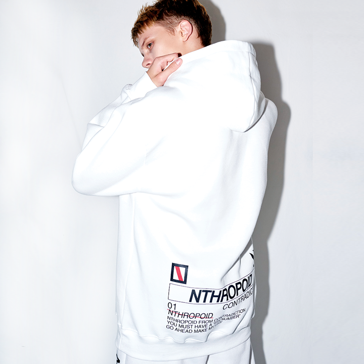 BACK LOGO HOODY (WHITE)