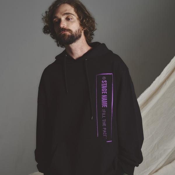 STG slogan hoodie_BLACK