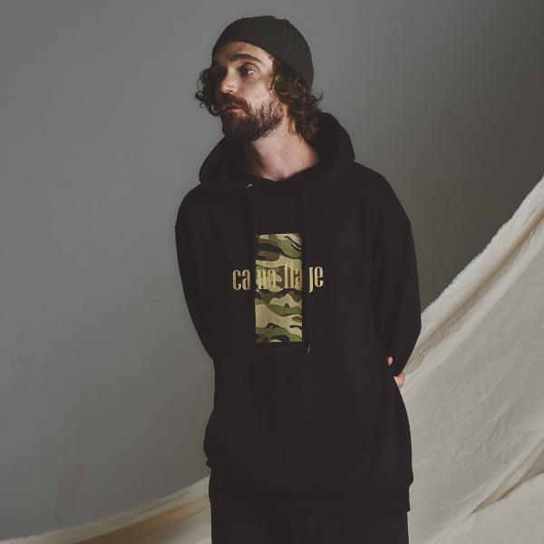 STG camo hoodie_BLACK