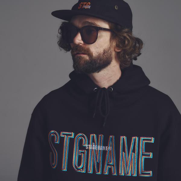 [기모]STG signature hoodie_BLACK