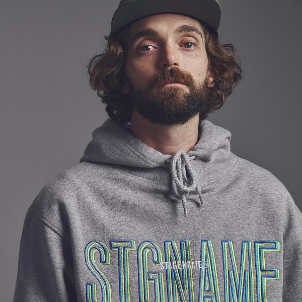 [기모]STG signature hoodie_GREY
