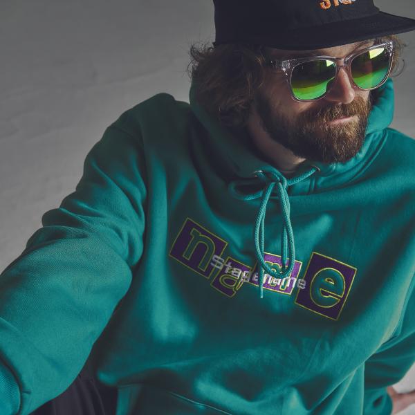 [기모]STG the name hoodie_EM GREEN