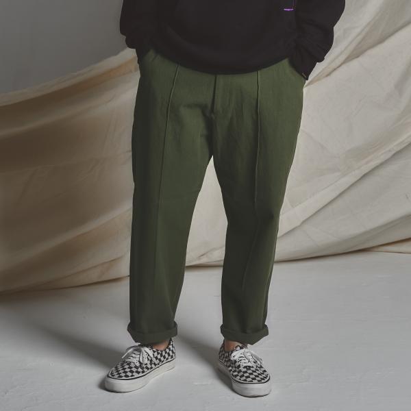 STG Pintuck Wide Pants_KHAKI