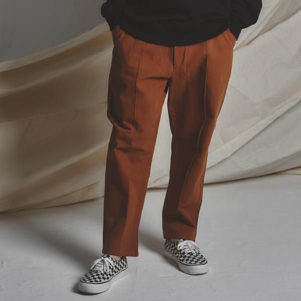 STG Pintuck Wide Pants_CAMEL BR