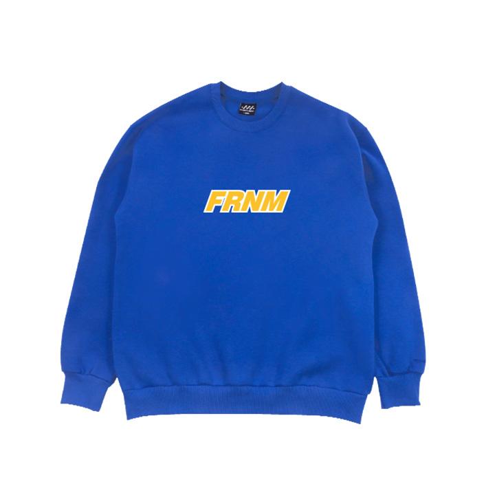 FRNM 화이트 라인 맨투맨 티셔츠 (기모)