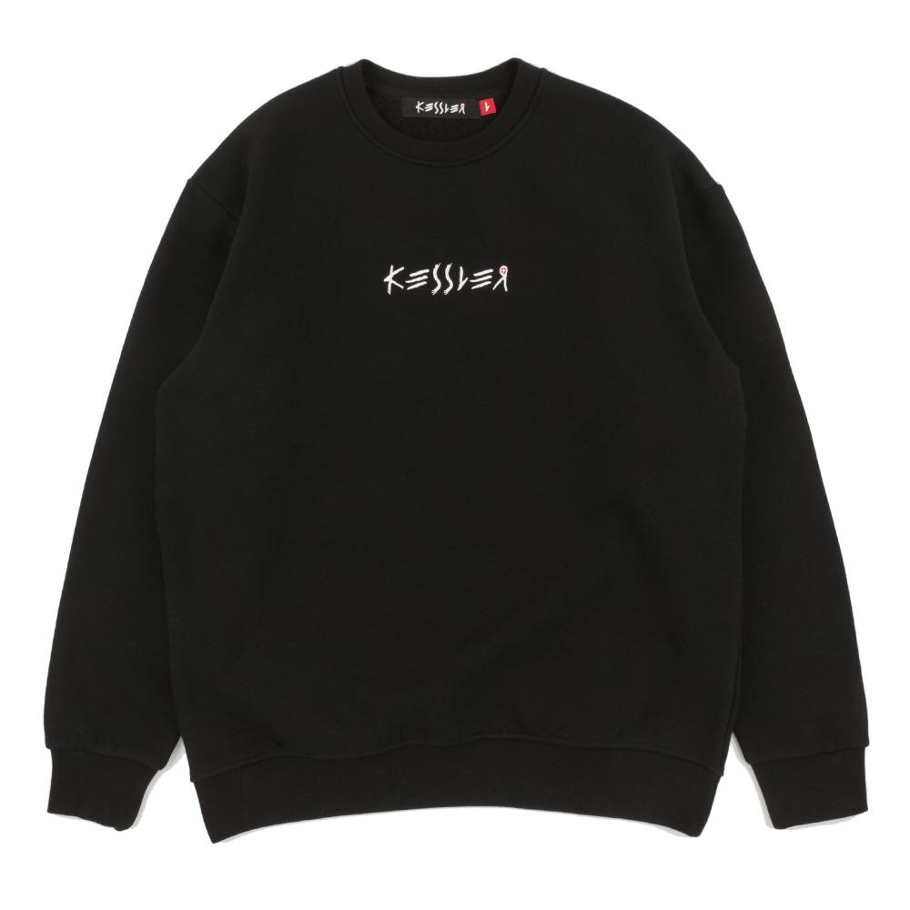 [케슬러] KESSLER - CROSS SWEATSHIRT (BLACK) 기모 맨투맨 스웨트셔츠
