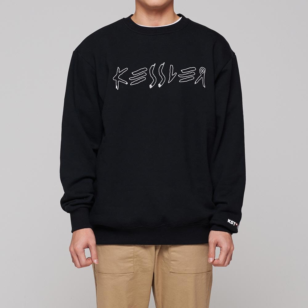 [케슬러] KESSLER - RANGE SWEATSHIRT (BLACK) 기모 맨투맨 스웨트셔츠