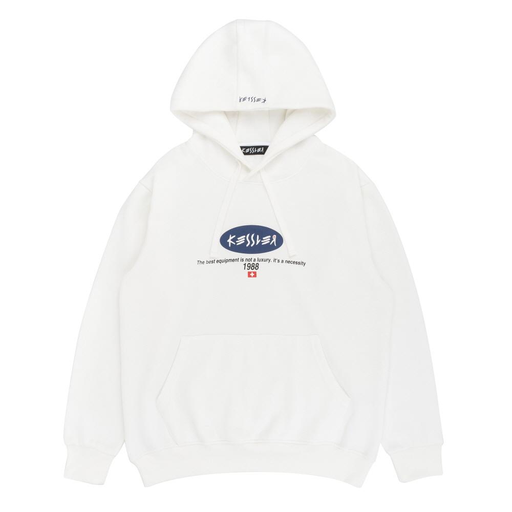 [케슬러] KESSLER - HOODED 1988 SWEATSHIRT (WHITE) 기모 후드 스웨트셔츠