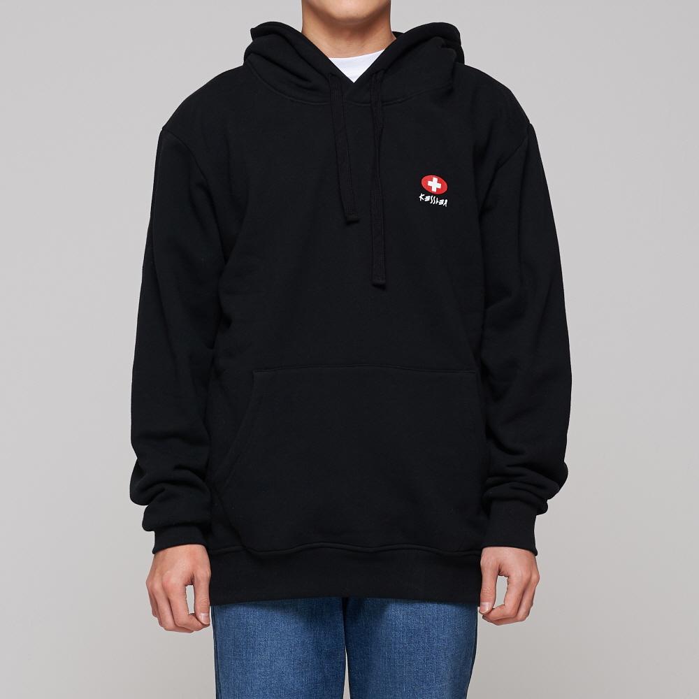 [케슬러] KESSLER - HOODED LOGO SWEATSHIRT (BLACK) 기모 후드 스웨트셔츠