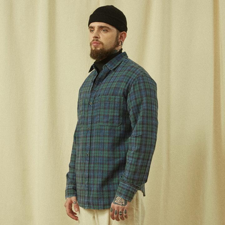 하드워싱 2포켓 셔츠