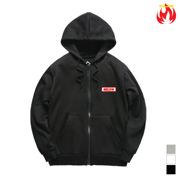 Mini Logo Hellvn Zip-Up Hoody - H8C-401 - 후드집업